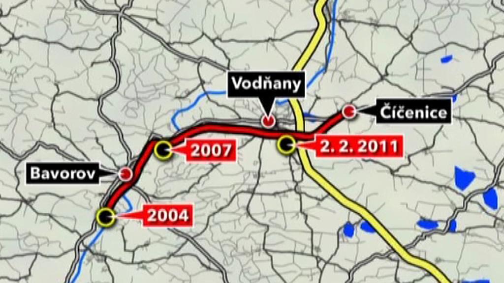Srážky na trati Volary-Číčenice