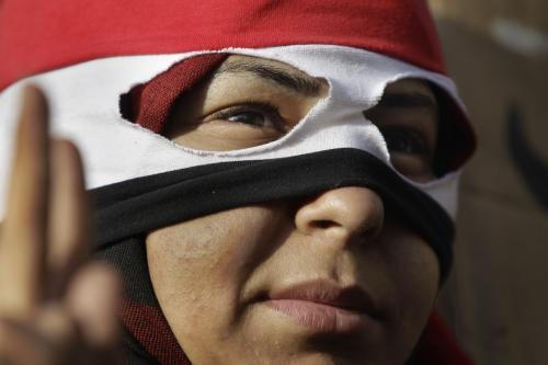 Egyptský demonstrant