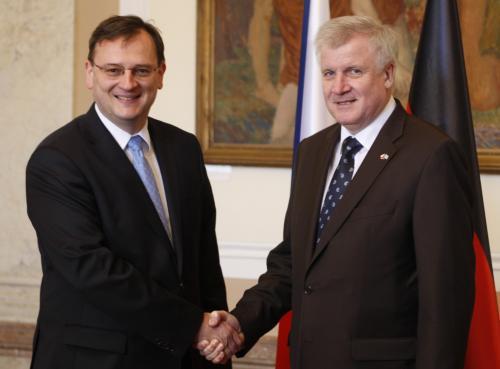 Setkání premiéra Nečase s bavorským premiérem Seehoferem