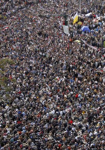 Den odchodu v ulicích Káhiry