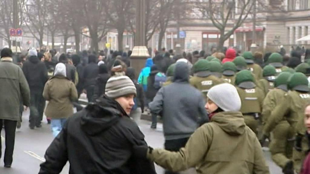 Střetnutí německé policie se squattery