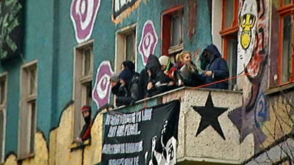 Squatteři v Liebigstraße 14