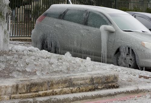 Následky sněhové bouře v USA