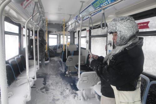 Řádění sněhové bouře v USA