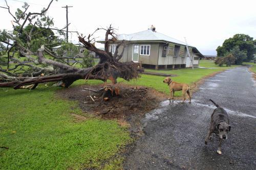 Následky cyklonu v australském Queenslandu