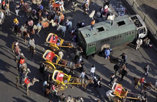 Do egyptských nepokojů se zapojili i provozovatelé bryček