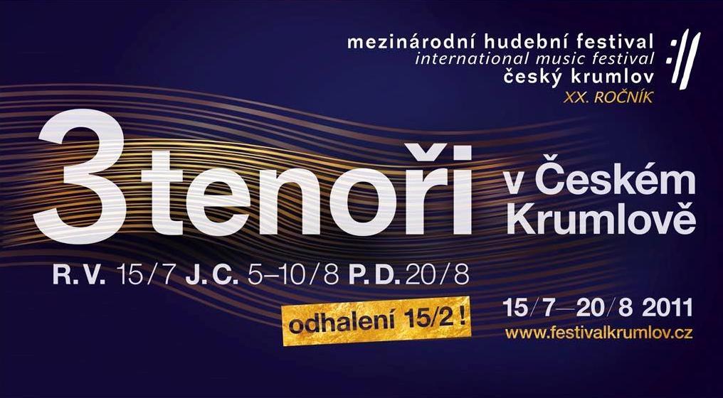 Tři tenoři na festivalu Český Krumlov