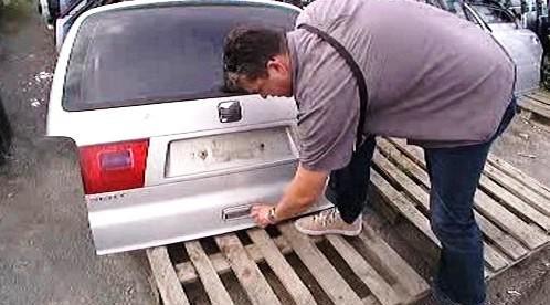 Část ukradeného auta