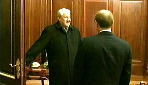 Boris Jelcin a Vladimir Putin