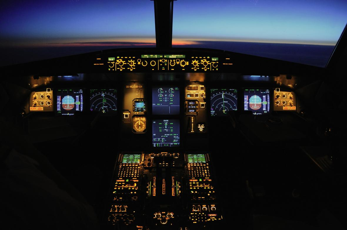 Kokpit letadla ČSA