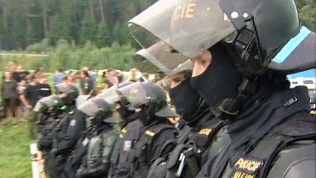 Policejní zásah na CzechTeku