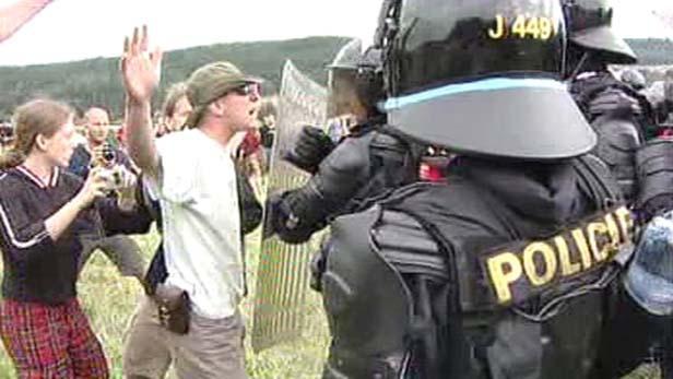 Zásah policie na Czechteku