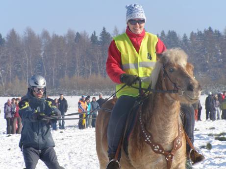 Koňské lyžování v Krkonoších