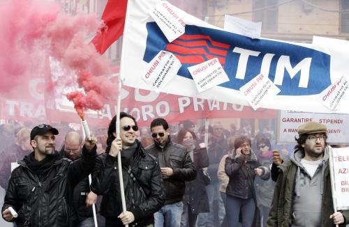 Protesty zaměstnanců Fiatu