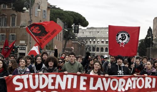 Demonstrace v Itálii