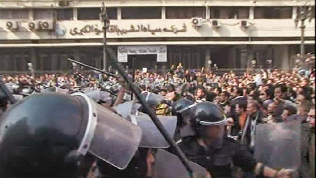 Zásah egyptské policie proti demonstrantům