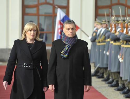Iveta Radičová a Viktor Orbán