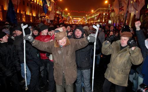 Protesty běloruské opozice