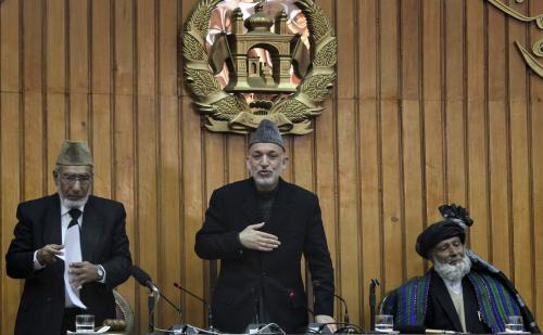 Hamíd Karzáí zahajuje zasedání afghánského parlamentu