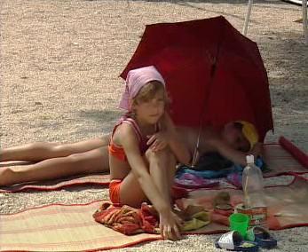 Dítě na pláži