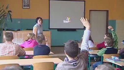 Žáci při vyučování
