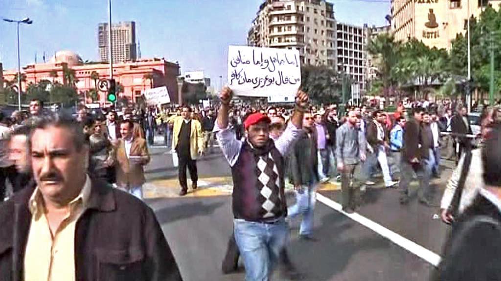 Protivládní demonstrace v Egyptě