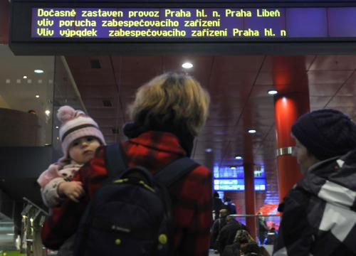 Porucha zastavila vlaky