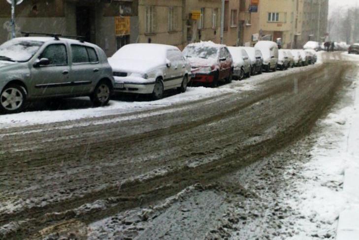 Zima ve městě