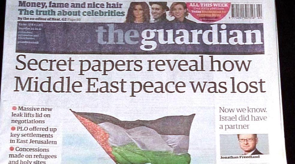 Tisk o úniku dokumentů z izraelsko-palestinských jednání