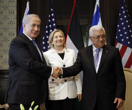 Benjamin Netanjahu, Hillary Clintonová a Mahmúd Abbás