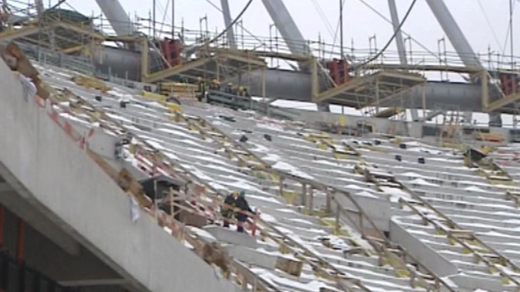 Rozestavěný polský národní stadion