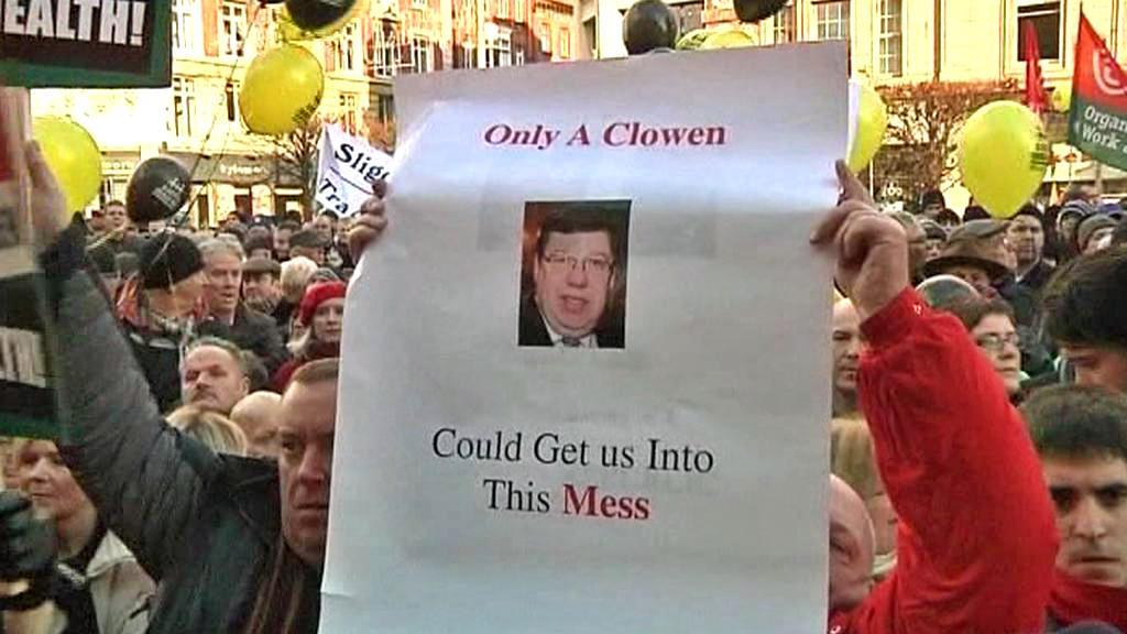 Protivládní protest v Irsku