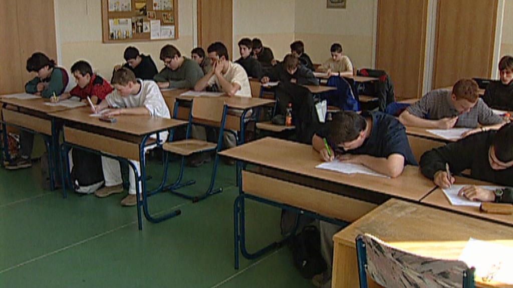 Žáci při testu