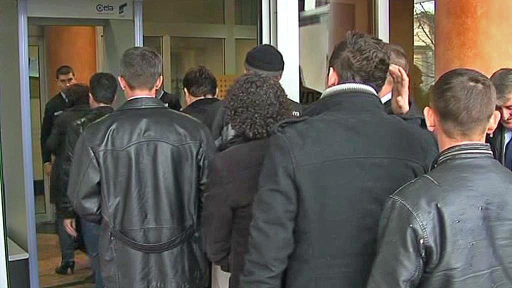 Vstup do budovy srbského soudu