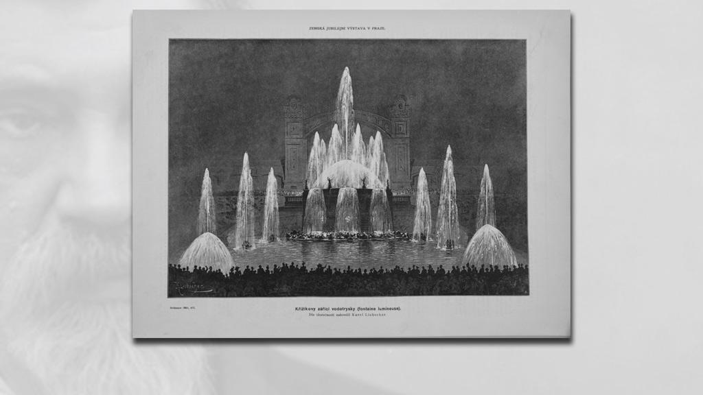 Křižíkova fontána v roce 1891
