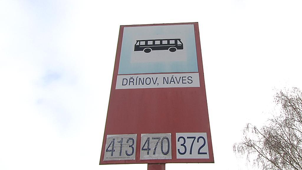 Autobusová zastávka v Dřínově