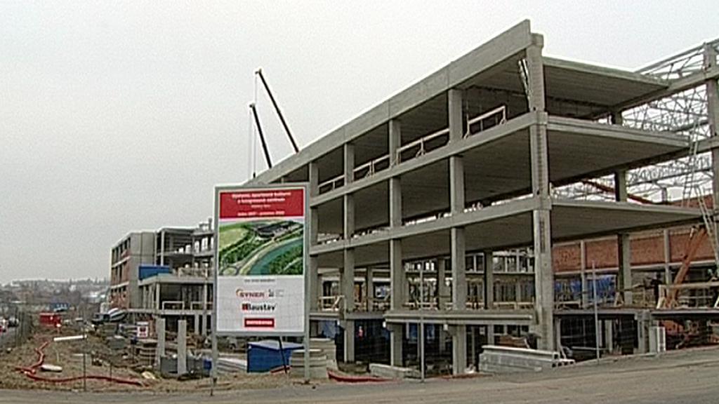 Stavba multifunkční haly Karlovy Vary