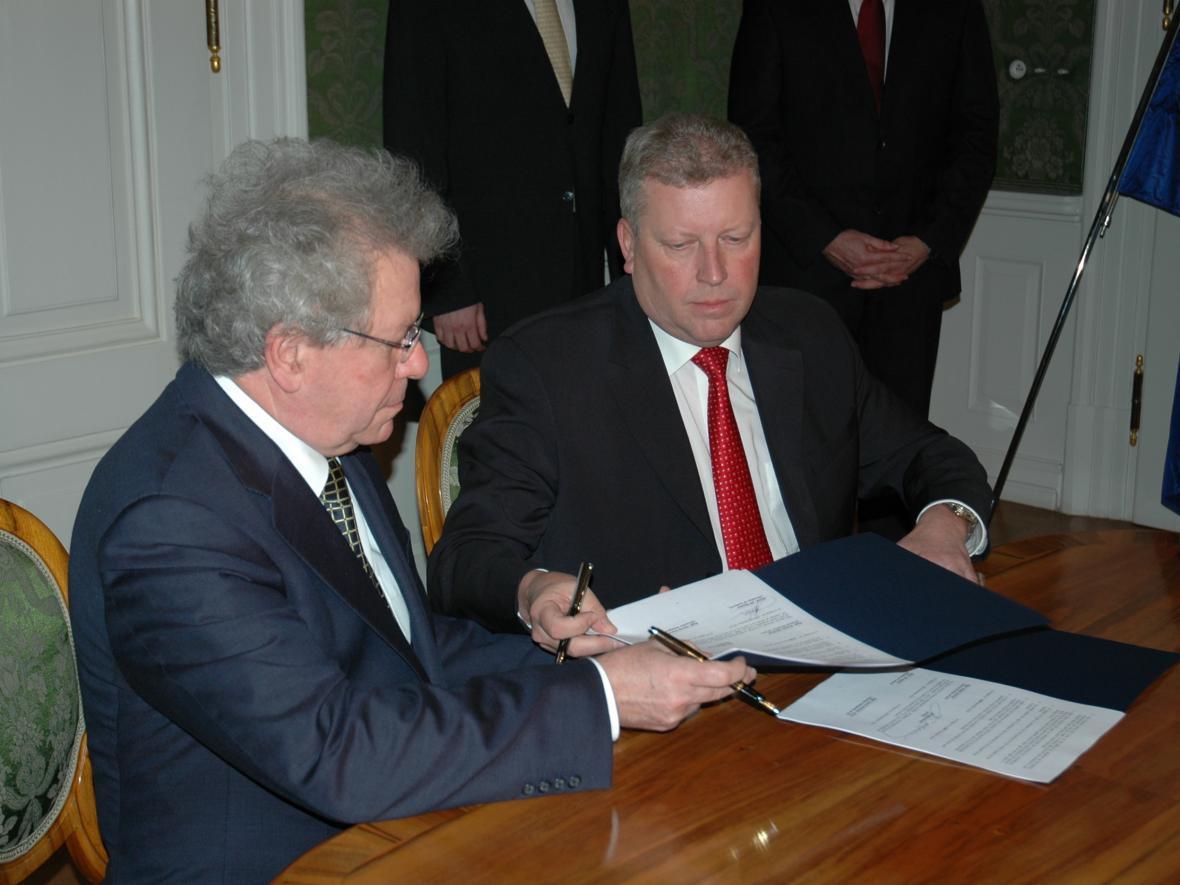 Jiří Bělohlávek a Jiří Besser