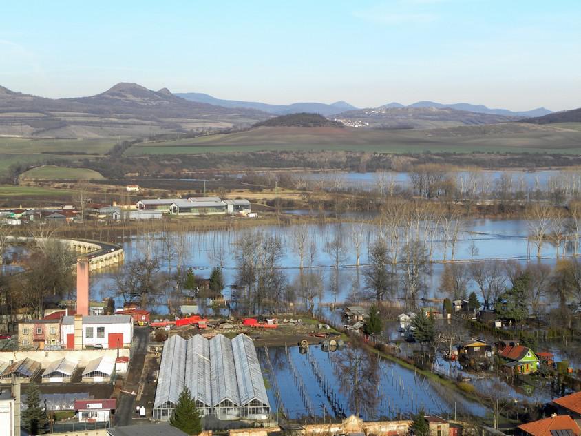 Povodeň - Louny - leden 2011