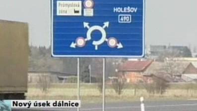 U Hulína se otevřel nový úsek dálnice