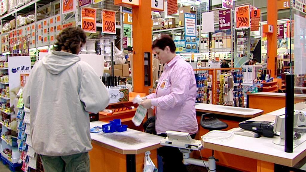 Zákazník na pokladně