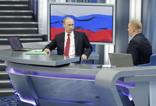 Vladimir Putin diskutoval s diváky ruské televize