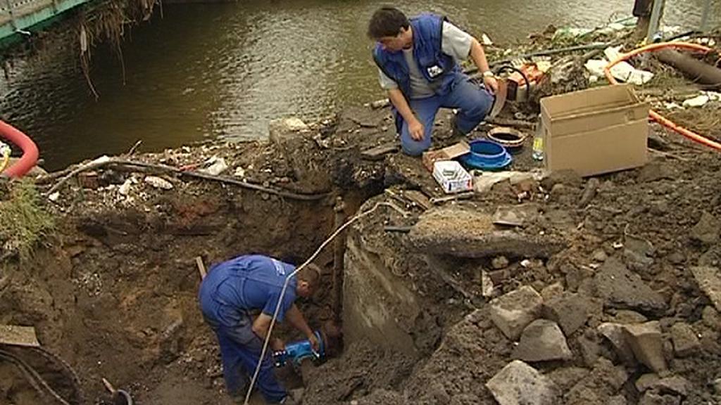 Opravy vodovodní infrastruktury