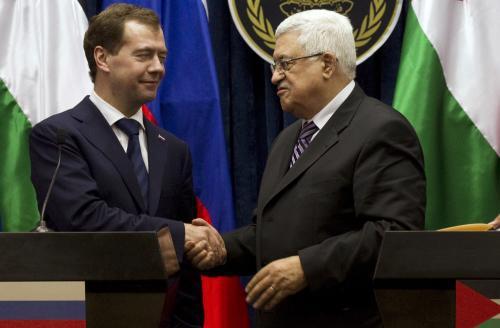 Medveděv ujistil Abbáse o ruské podpoře pro nezávislou Palestinu