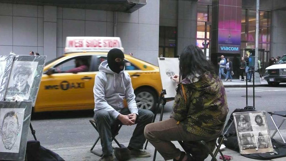 Banksy na Time Square