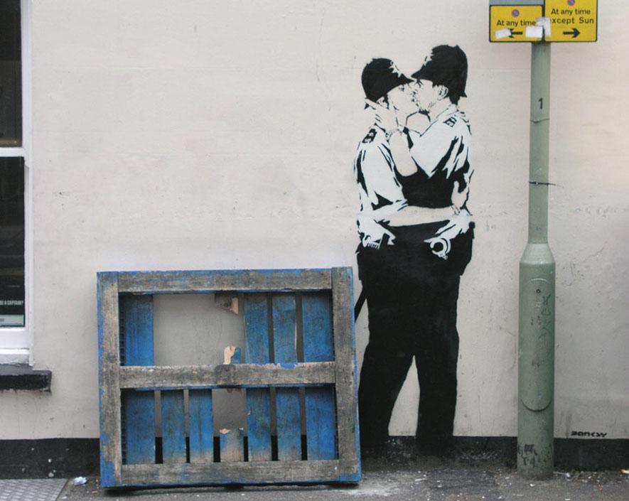 Banksyho graffiti v Brightonu