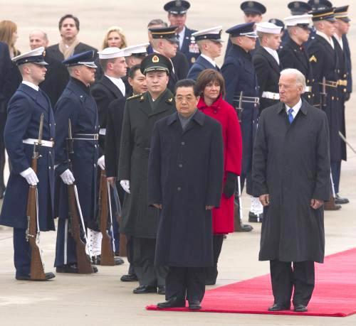 Chu Ťin-tchao po příletu do USA