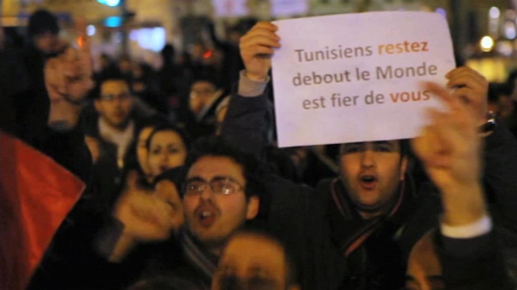 Protesty v Tunisu