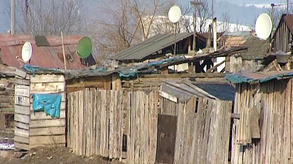 Romská osada na Slovensku