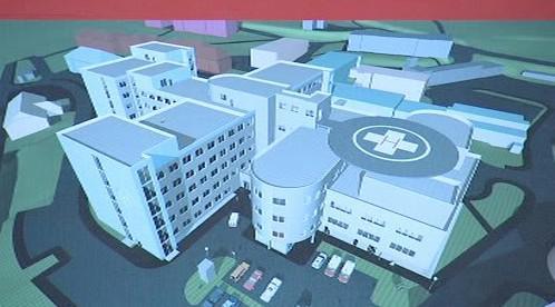 Model nového objektu nemocnice v Klatovech